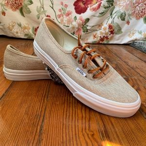 NWT Vans Authentic Slim Washed Canvas Sneakers